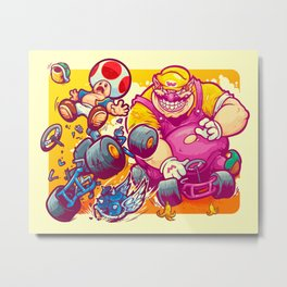 Beware The Blue Shell Metal Print