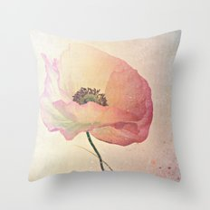 Inspired by the light -- Pink Poppy Flower Throw Pillow