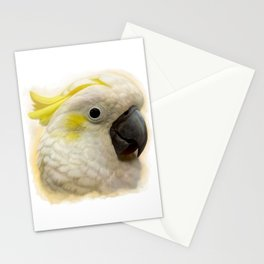 Sulphur Crested Cockatoo realistic painting Stationery Cards