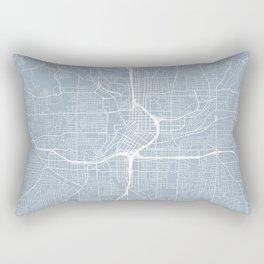 Atlanta Map, USA - Slate Rectangular Pillow