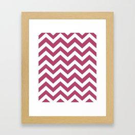 Irresistible - purple color -  Zigzag Chevron Pattern Framed Art Print