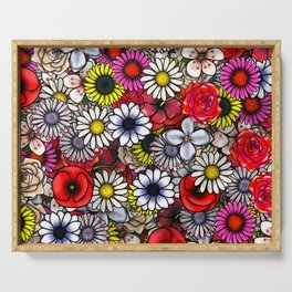 Flowers Serving Tray