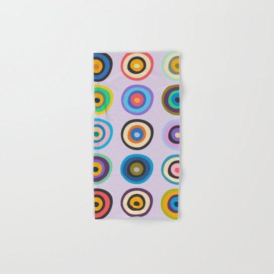 Colorful Circles VI Hand & Bath Towel