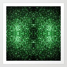 Glamour Dark Green glitter sparkles Art Print