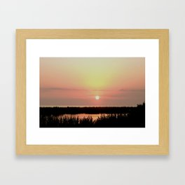 Marco Island Gulf of Mexico Sunset Framed Art Print