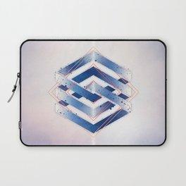 Indigo Hexagon :: Floating Geometry Laptop Sleeve