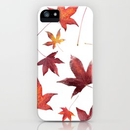 Dead Leaves over White iPhone Case