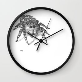 Inktober 2016: Jumping Spider Wall Clock