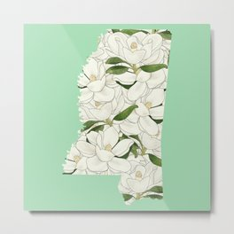 Mississippi in Flowers Metal Print
