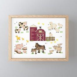 Farm Animals Kids Framed Mini Art Print
