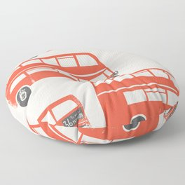 London Double Decker Red Bus Floor Pillow