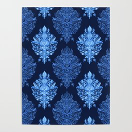 In The Garden Ogee Pattern Poster