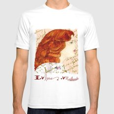 I love Redheads White Mens Fitted Tee MEDIUM