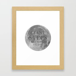Giant steps | W&L003 Framed Art Print