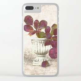 Urn With Leaves Clear iPhone Case