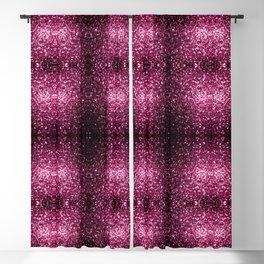 Beautiful Dark Pink glitter sparkles Blackout Curtain