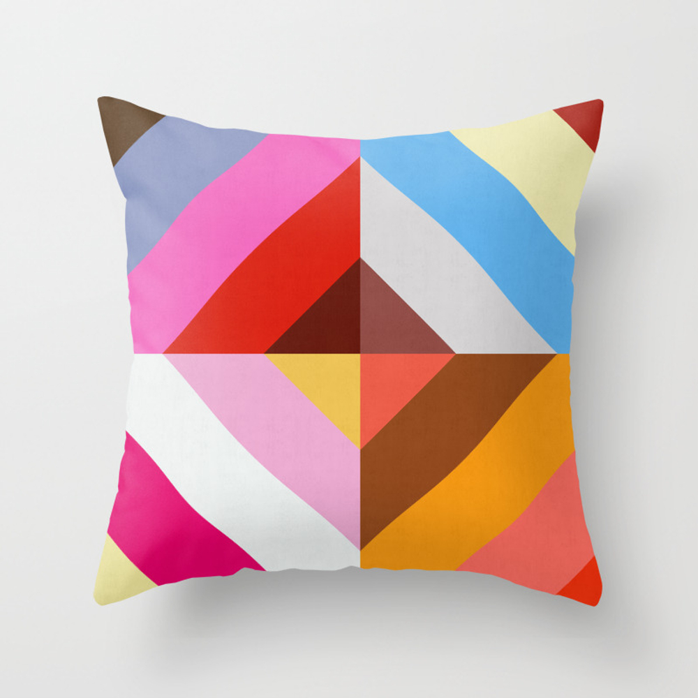 Vibrant And Colorful Pattern Vii Throw Pillow by Printedpattern PLW8473117