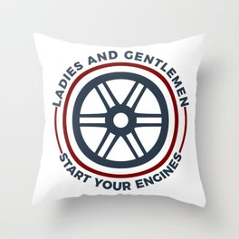Racers Start Your Engines Racing Driving Competition Throw Pillow