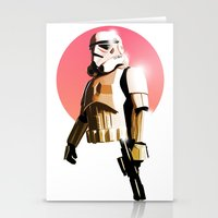 stormtrooper Stationery Cards featuring Stormtrooper by Luke Fisher