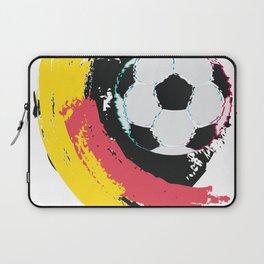 Football ball and red, yellow strokes Laptop Sleeve