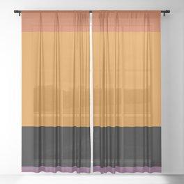 Contemporary Color Block I Sheer Curtain