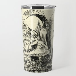 Pouty Alice  - Ink Sketch Travel Mug