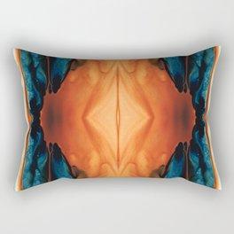 The Great Spirit - Abstract Art By Sharon Cummings Rectangular Pillow