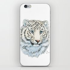 Young White Tiger  iPhone & iPod Skin