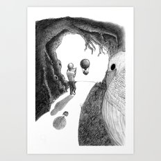 Walking with a Friend Art Print