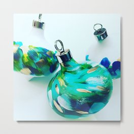 Peacock Ornaments Metal Print