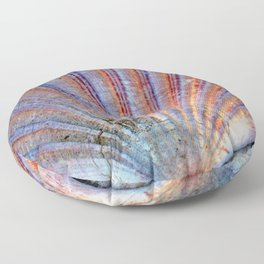 Scallop Shell on the Sand Floor Pillow