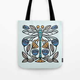 Dragonfly tile Tote Bag