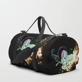 Wonderful unicorn with flowers Duffle Bag