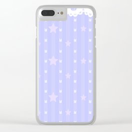 Kawaii Blue Clear iPhone Case