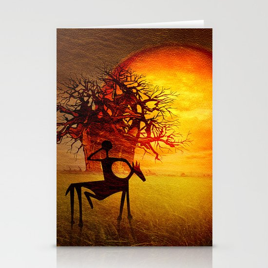 Visions of fire Stationery Cards