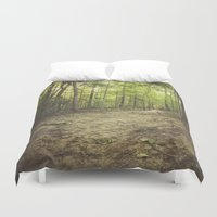 woods Duvet Covers featuring woods by Bonnie Jakobsen-Martin