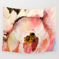 peonies Wall Tapestries featuring Peonies by Lucy Ortiz