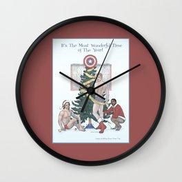 Team Cap Nice Pinup Holiday Card Wall Clock