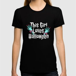 girl halloween T-shirt