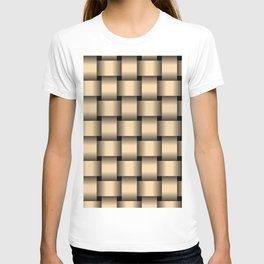 Large Navajo White Orange Weave T-shirt