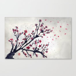 Sakura Sakura watercolour Canvas Print