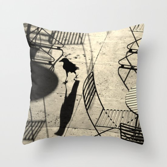 late visitor Throw Pillow