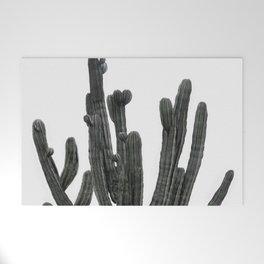 Black and White Cactus Welcome Mat