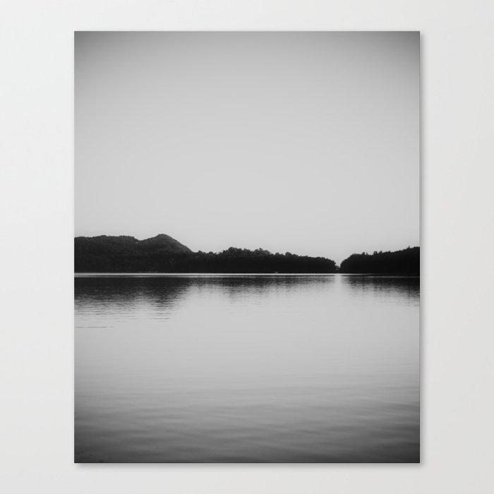 Herring Lake Black and White Canvas Print