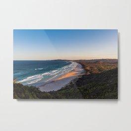 Overlooking Tallow beach Metal Print
