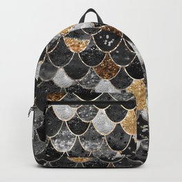 REALLY MERMAID BLACK GOLD Backpack