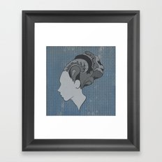 Busy Being Free (Blue) Framed Art Print
