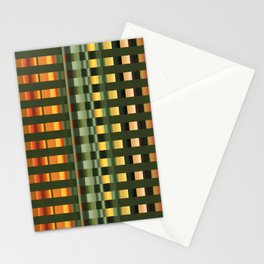 Pattern rectangle color multi I Stationery Cards