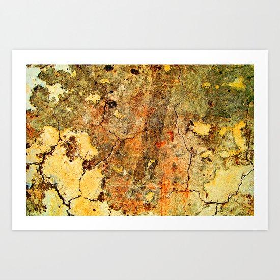 Cracked Wall Art Print