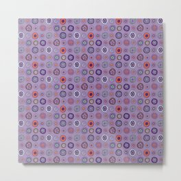 Dots in Lavender Metal Print